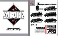 Auburn 1932 - 1932 Auburn 12-160 & 8-100 - Dual Ratio - 160 Horsepower  Auburn 1