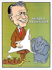 1968 Nelson Rockefeller Caricature Campaign Poster (3423)