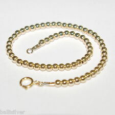 4 pcs 14kt Gold Filled 3mm Beads Beaded Bracelets Lot