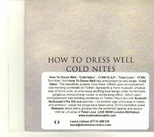(DR691) How To Dress Well, Cold Nites - 2012 DJ CD