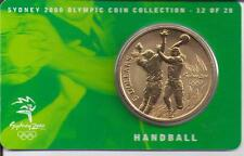 2000 $5 RAM UNC Coin Sydney Olympic coin collection- 12 of 28 (Handball) + cover