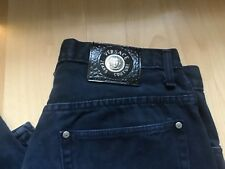 VERSACE 100% Genuine Men's COUTURE BLUE SOFT JEANS WAIST 32 inside length 29