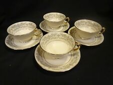 Lenox China USA - Noblesse - Set of Four Cup & Saucer Sets