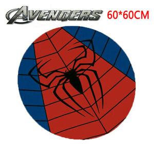 Superhero Floor Mat Spiderman Home Non-Slip Pad Bedroom Rug Carpet Decor Marvel