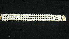 MIKIMOTO Akoya Pearls Triple Strand 18Kt Yellow Gold Bracelet~6-6.5mm AA Quality