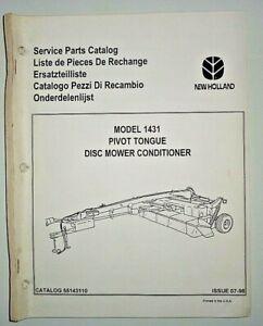 New Holland 1431 Disc Mower Conditioner Parts Catalog Book 7/98 NH Original!
