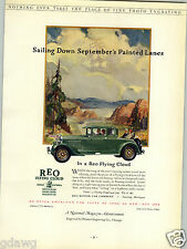 1927 PAPER AD Reo Flying Cloud Car Auto Automobile Commercial Printing Award