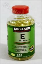Free World Wide Shipping Kirkland Vitamin E 400 i.u. 500 Softgels New Sealed