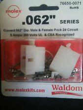 "Molex/Waldom 76650-0071 .062"" 24 Circuit 5 Amps 250 V 24-18 Awg"