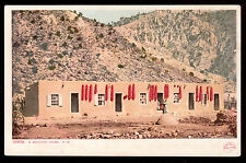c1907 a colorful Mexican family home New Mexico postcard