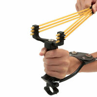 Stainless Outdoor Slingshot High Powerful Velocity Hunting Catapult Sling Shot