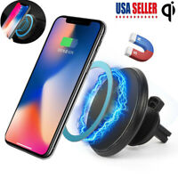 Qi Wireless Car Charger Charging Magnetic Mount Holder For Apple iPhone Samsung
