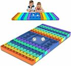 Rainbow Silicone Chess Board Bubble Sensory Toys Push pop Game Fidget Toy New