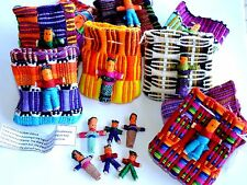 Worry Dolls in Bags 25 of  6 Small handmade Guatemalan Trouble Dolls Wholesale