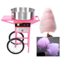 Cotton Candy Machine à Barbe à Papa électrique Avec Chariot Carnival Appareil