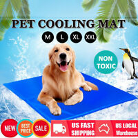 Dog Cooling Mat Pet Cat Chilly Non-Toxic Summer Gel Bed Pad Cushion Indoor M-XXL