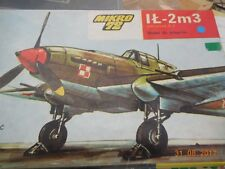 1:72 Scale Kit by MIKRO 72 of Poland No S03:  IL-2m3 Plane,