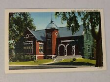 Vintage Postcard - Public Library Waterville Maine ME White Boarder Unpost #722