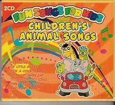 CHILDREN'S ANIMAL SONGS - FUN SONGS FOR KIDS on 2 CD's - NEW -