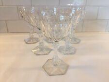6 verres à vin en cristal PRINCE DE GALLES. H: 124 mm Val Saint Lambert