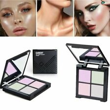 4 Color Eye Shadow Foundation Gift for Makeup Brighten Face Glow Powder Good