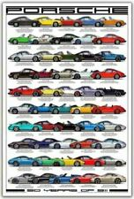 A3 PORSCHE 911 50 YEARS ANNIVERSARY EVOLUTION POSTER BROCHURE ART PRINT PICTURE