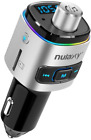Bluetooth FM Transmitter Car Color LED Backlit Adapter Charging Support USB Kit
