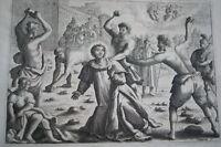 GRAVURE SUR CUIVRE SAINT ETIENNE LAPIDE-BIBLE 1670 LEMAISTRE DE SACY (B239)