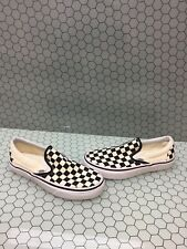 VANS Slip On Black/White Checkered Canvas Skate Shoes Men's Size 5  Women's 6.5