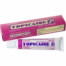 TOPICAINE 5% - Lidocaine Gel (30 grams) Anesthetic Skin Numbing Gel