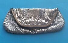 Plata Lentejuelas & Adornado Clutch Bag
