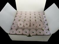 Prewound Bobbins, Size L, 144pcs White Card Board, 75D/2, 130 yards