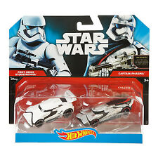Hot Wheels Star Wars 1:64 Diecast FIRST ORDER STORMTROOPER & CAPTAIN PHASMA Cars