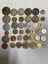Lot World Coins Mexico Peso 20 Centavos Brazil Real 5 10 25 50 Peru Oro Etc