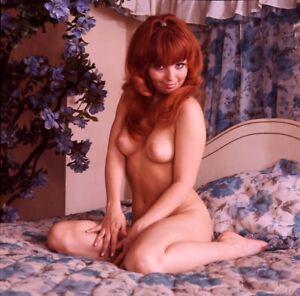 "MICKEY JINES Nude 1960's Model Vintage ORIGINAL Larry Caye 2.25"" TRANSPARENCY JG"