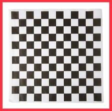 Dry Waxed Deli Paper Sheets - Paper Liner for Plasic Food Basket 100 Black/white