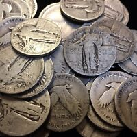 "90% Silver Standing Liberty Quarters $1 Face Value ""Junk Silver"""