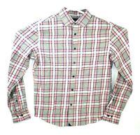 New Mens UNTUCKIT Rousseau Long Sleeve Button Slim Fit Flannel Plaid Shirt Sz M