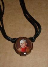 SAINT ST POPE JOHN PAUL II NECKLACE Wood Cord NEW Beautiful Mystic Vatican