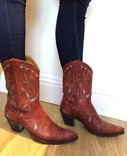 Women's Red R.Soles Judy Rothschild Cowgirl Boots EU 39 UK 6 Cowboy Western