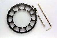 Adjustable Gear Ring For Follow Focus Belt 70~80mm For DSLR Lens Mod 0.8 black