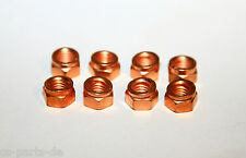 8x Copper nut Thermag M8 SW12 DIN14440 CU M8SW12 Exhaust manifold VW Vauxhall