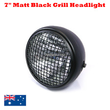 "Matt black Grill 7"" headlight Harley chopper bobber cafe racer custom projects"