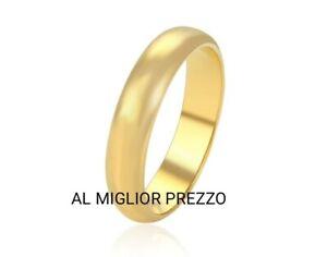 Fede Nuziale placcato oro 18kt Fedina da 3g Gold Plated 18k Wedding Rings