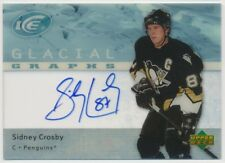 2007-08 UD ICE SIDNEY CROSBY GLACIAL GRAPHS AUTO AUTOGRAPH ON CARD PENGUINS!