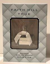 Faith Hill True EDT Perfume Spray For Women - New in Box - 0.5 oz