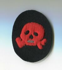 German 1860 - 1918  Style RED Skull Patch 3
