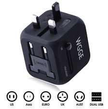 Travel Adapter,WGGE Multi-Nation Travel Adapter, All-in-one International Power
