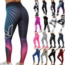 Women Sport Compression Leggings High Waist Yoga Pants Push Up Gym Fitness Print