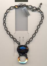 CHICO'S SIGNED  LARGE BLACK CRYSTAL FANCY NECKLACE